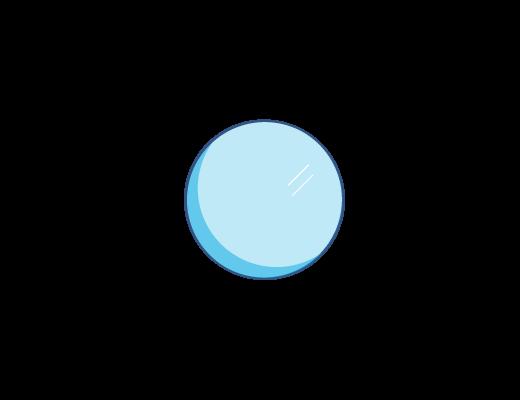 Lentille ACUVUE® teintée en bleu.