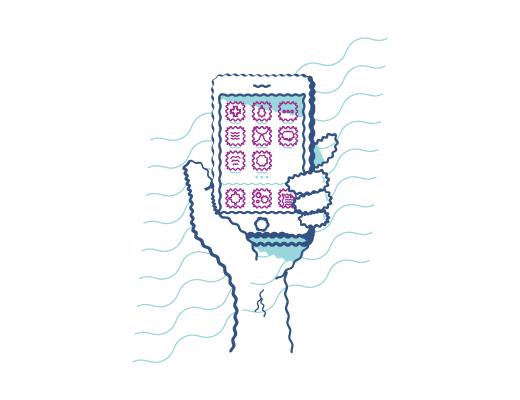 Vidéo de la vision floue d'une personne astigmate tenant un téléphone.