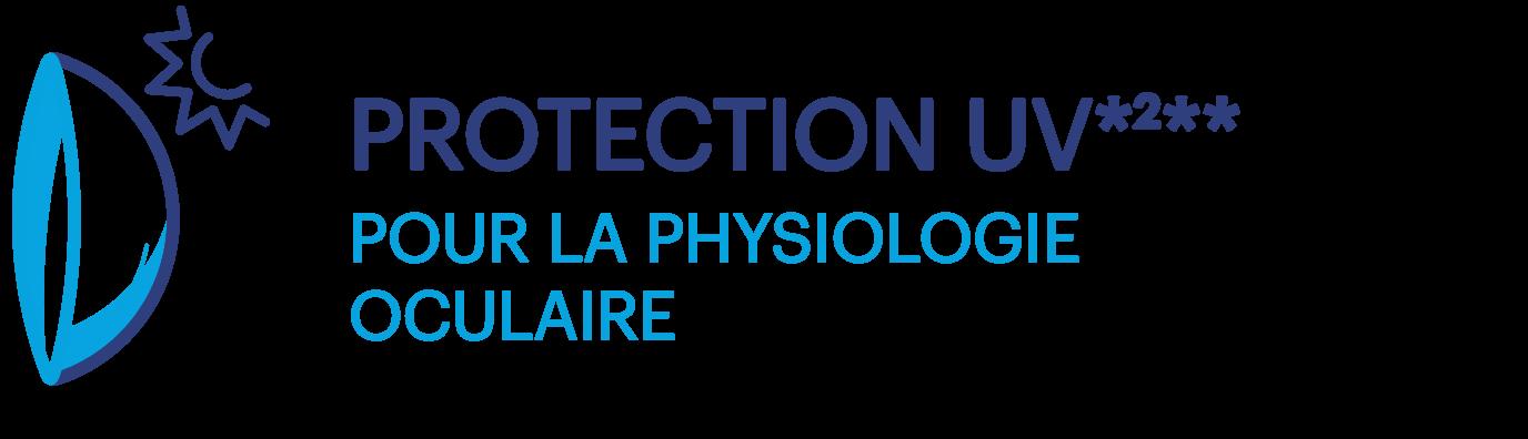 PROTECTION UV*2** POUR LA PHYSIOLOGIE OCULAIRE